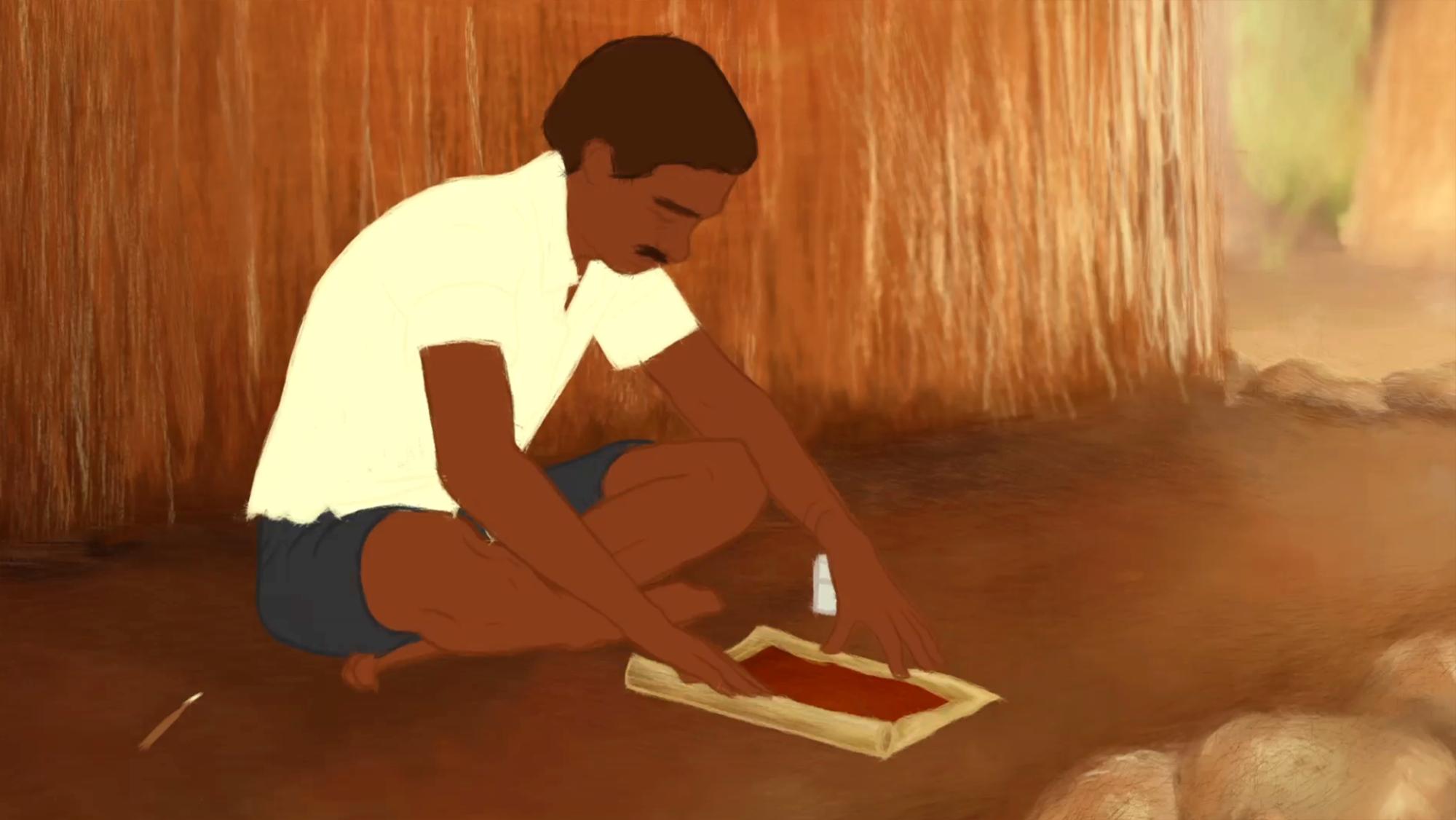 Court métrage Les Warlis, Tribu Adivasi Indienne – Le Conte de l'orgueilleux gendre qui disait ne pas aimer le miel